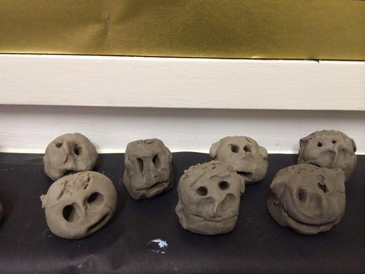 Clay faces