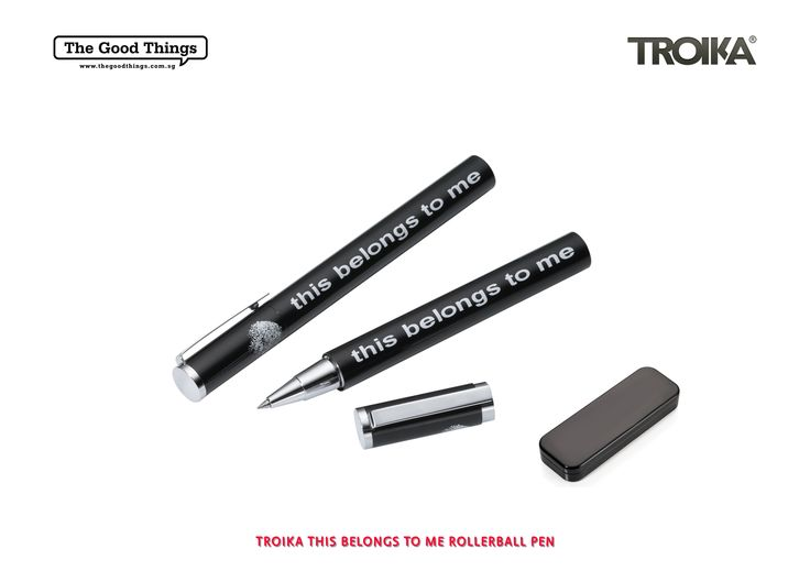 TROIKA THIS BELONGS TO ME ROLLERBALL PEN.    The Troika handwriting collection contains writing implements for people who have something to say. Because everyone has their very own handwriting.    #tgt #thegoodthings #troika