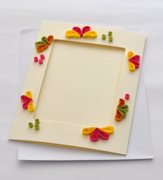 Quilled Card Paper Quilling Card Photo Frame by PaperSimplicity