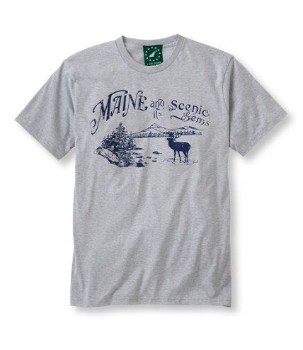 Wear your #Maine pride.  USA made T-Shirt via #LLBean