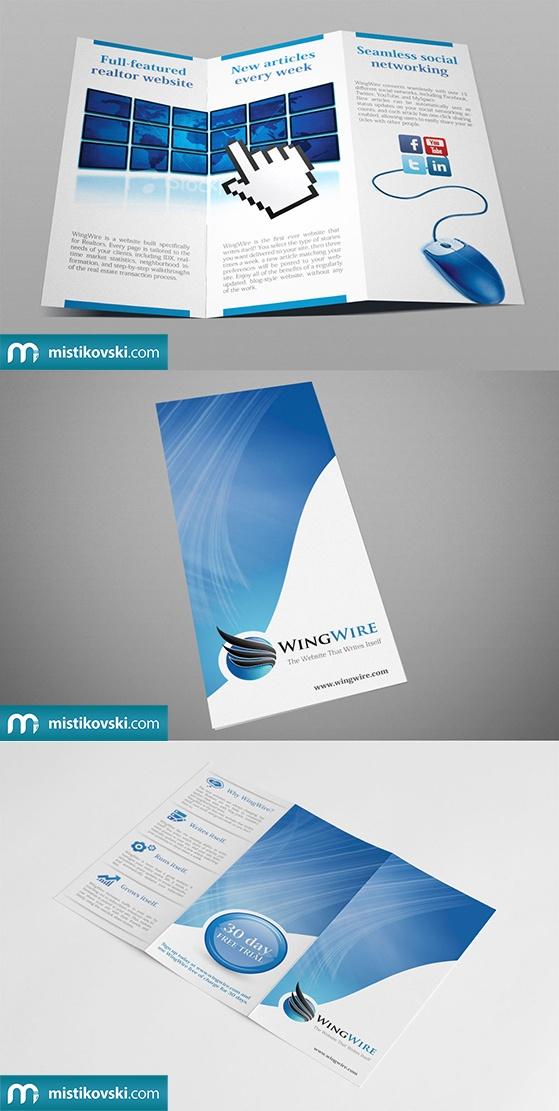 WingWire | Tri-fold Brochure | www.mistikovski.com