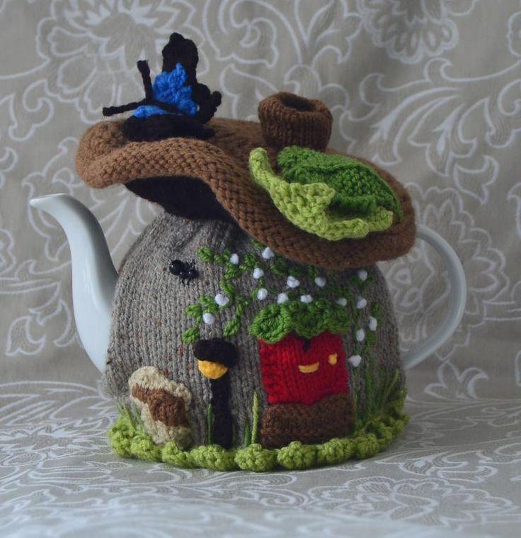 Fairy Mushroom House Tea Cosy