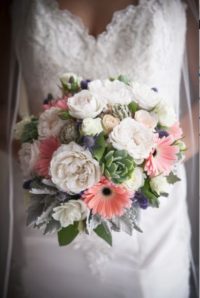 Loving this bridal boutique. Succulents, gerberas and roses x Captured by Melbourne Wedding Photographer STUDIOMAX