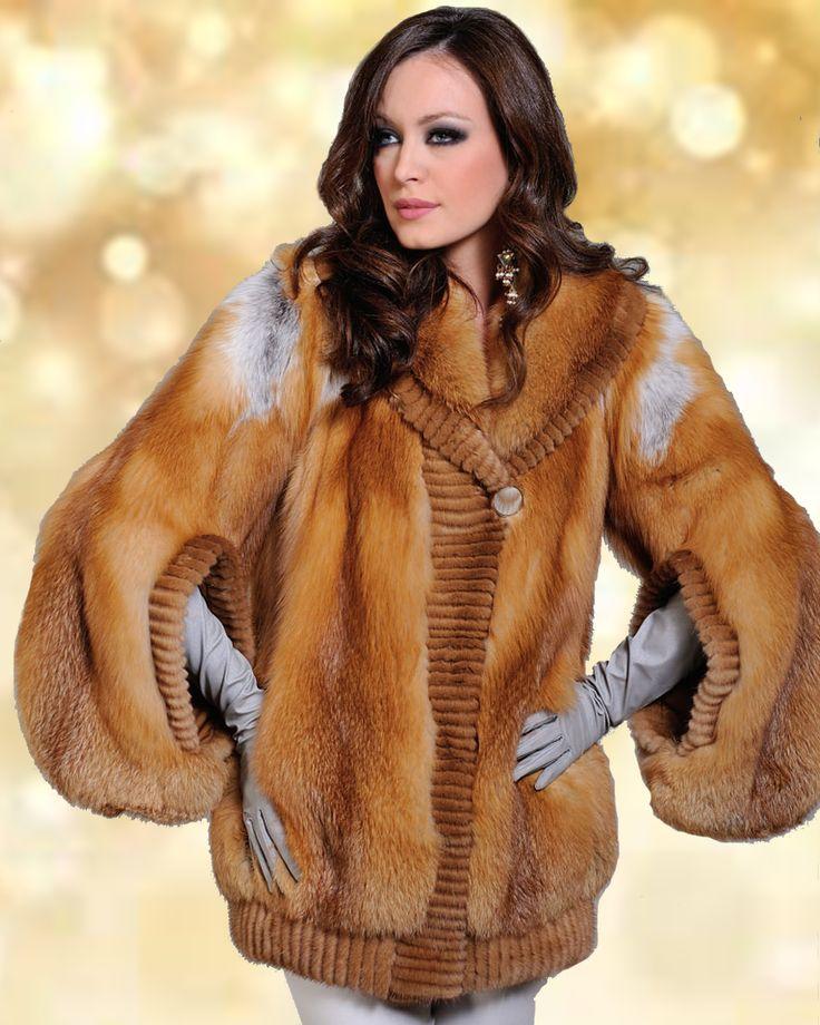 Feeling festive already? This golden fox fur jacket is the greatest choice.