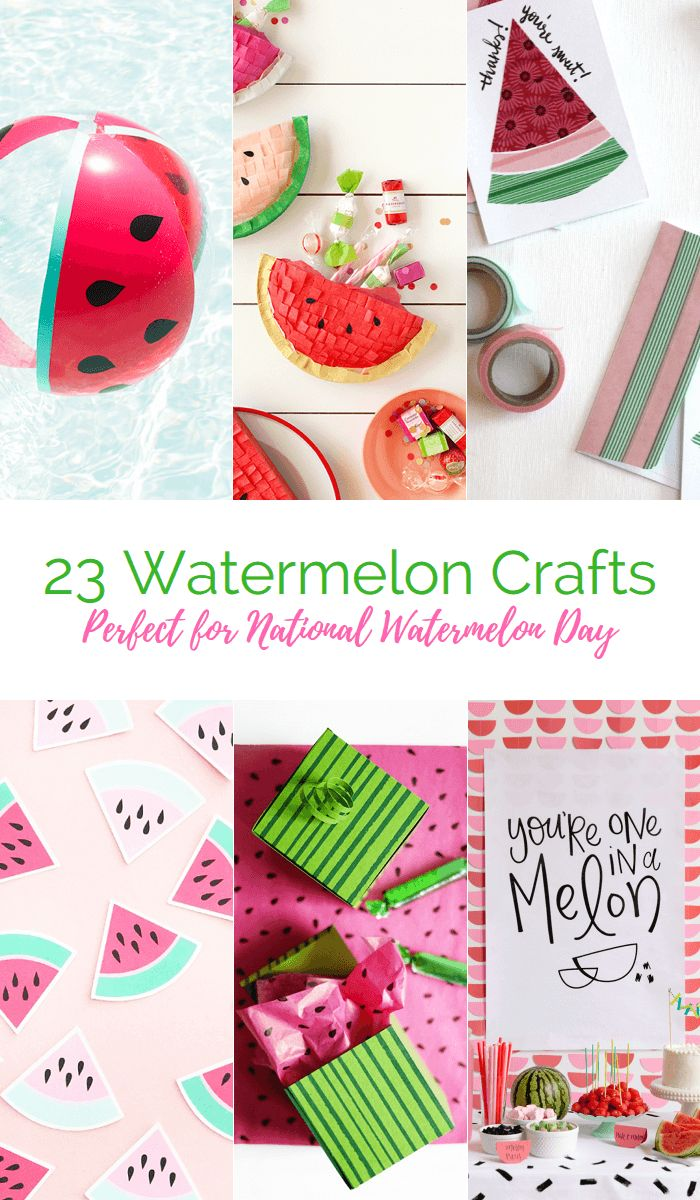 23 great Watermelon Crafts for National Watermelon Day!