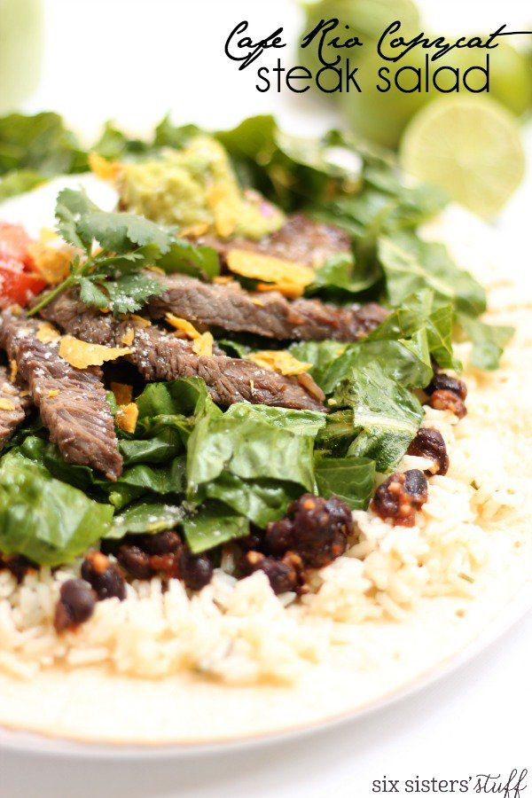 Cafe Rio Steak Salad | Six Sisters' Stuff