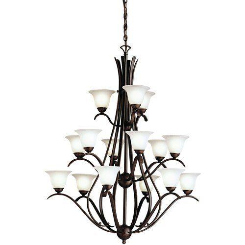 Kichler kk2523tz dover large foyer chandelier chandelier tannery bronze at ferguson com