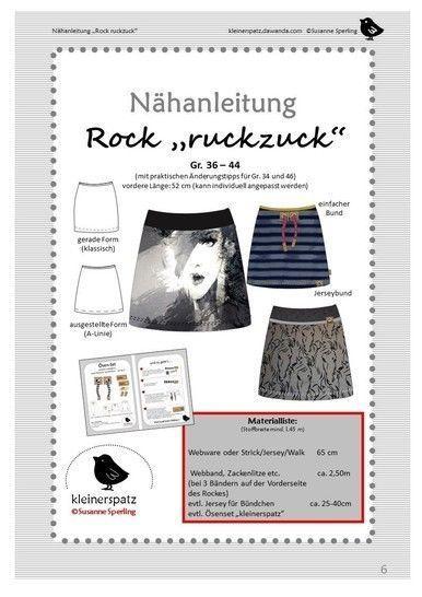 #schnittmuster #nhanleitungen #nhanleitung #ruckzuck #makerist