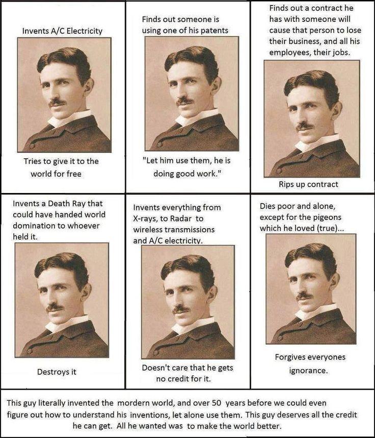 Nikola Tesla - Redefining Altruism #sumthots