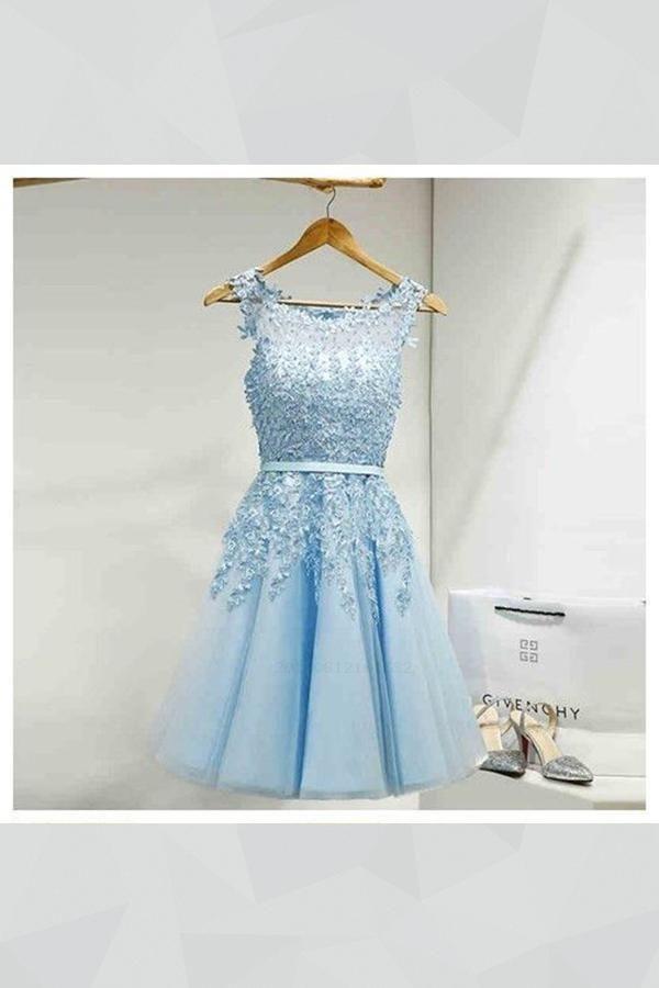 74b2e459a1c9d Short Homecoming Dresses, Cheap Homecoming Dresses, Homecoming Dresses With  Appliques, Homecoming Dresses Lace #ShortHomecomingDresses ...