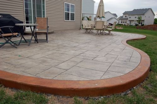 Stamped concrete patio patio n landscaping ideas pinterest - Landscaping ideas around concrete patio ...