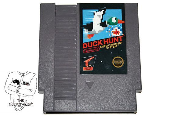 Nintendo NES Duck Hunt game cartridge authentic by TheGeekitarium