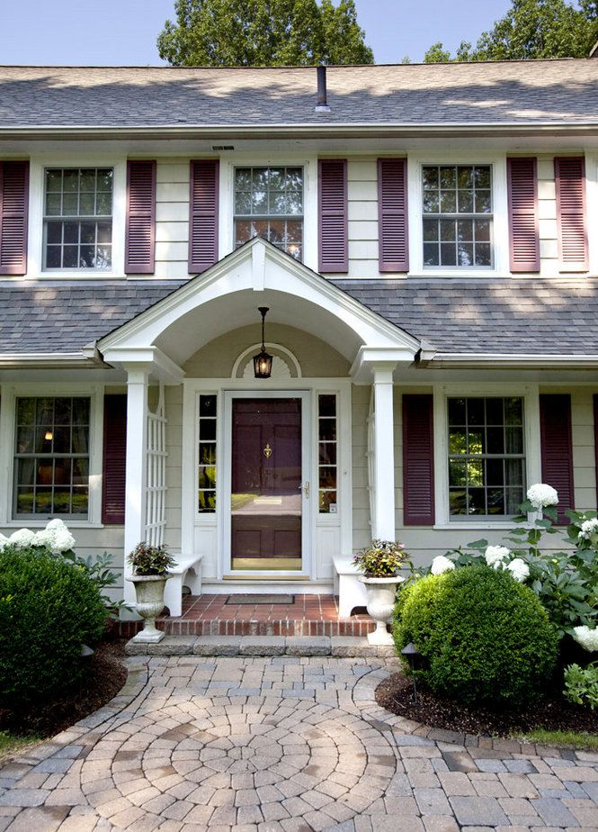 112 best images about dutch colonial exteriors on for Colonial front porch ideas