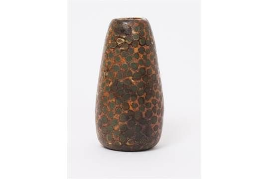 A Martin Brothers stoneware gourd vase by Edwin & Walter Martin, dated 1907, tapering cylindrical