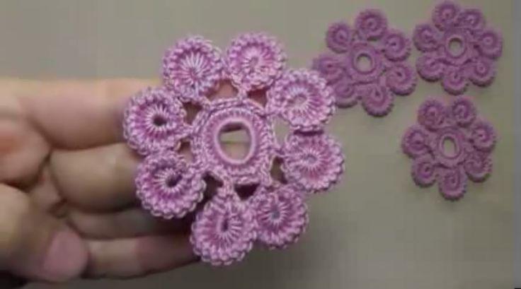 How Irish crochet flower lovely 1