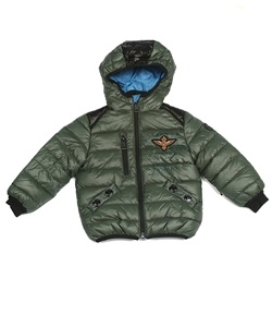 Dark green puffer coat for boys! Warm and perfect for the cold days to come!