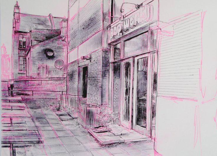 abandoned nightclub Croydon - Laura Oldfield Ford