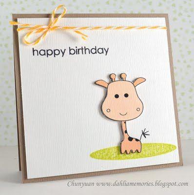 Dahlia Memories: Kids birthday cards