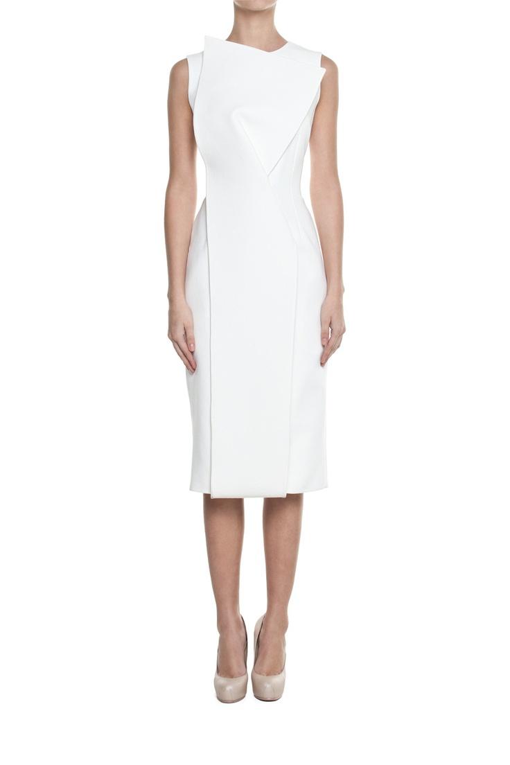 Sukienka ORIGAMI biała | Ubrania \ Sukienki \ Mini Ubrania \ Sukienki \ Wieczorowe Ubrania \ Sukienki \ Koktajlowe Ubrania \ Wszystkie ubrania PROJEKTANCI \ MUSES Urbanska Sukienki Wszystkie ubrania | MOSTRAMI.PL