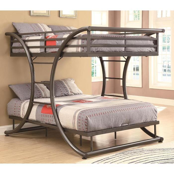 Full over Full Bunk Bed in Gunmetal | Nebraska Furniture Mart