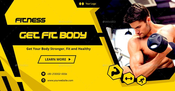 Fitness And Gym Facebook Ad Banners Ar Banner Ads Fb Ads Banner
