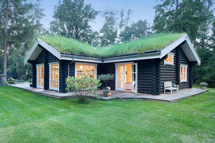 Egy csipetnyi mennyország - faház az erdőben csodás terekkel, teraszokkal | bachbolig.dk