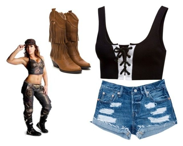 """Mickie James"" by skyelynnalexis ❤ liked on Polyvore featuring Izod, Puma and country"