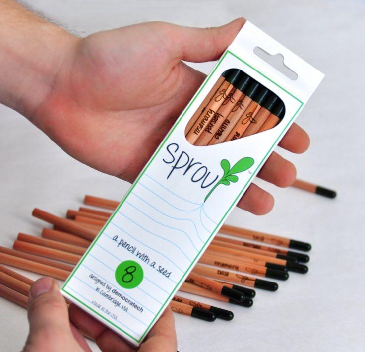 Sprout Pencil è una matita realizzata in cedro e che contiene semi bilogici, così una volta terminata si può piantare e far crescere una piantina dibasilico, aneto, coriandolo, menta, rosmarino, salvia o timo. Un set da 8 matite è acquistabile qui. Viacolorivivacimagazine.com Designer: ND(Nessun Giudizio) Articoli Correlati Cloud Pencil & Eraser Set 9 gennaio 2013 ...