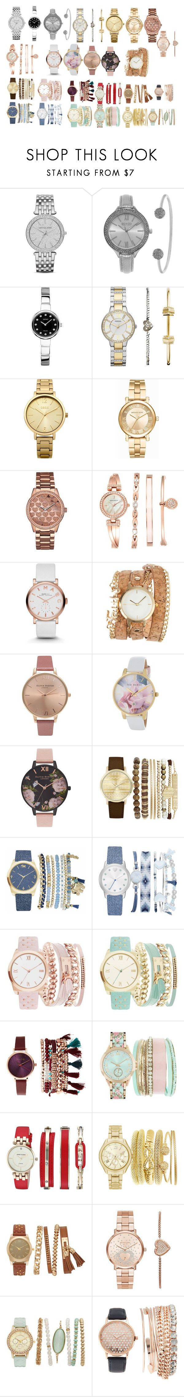 """""""watches"""" by azra-99 on Polyvore featuring Michael Kors, SO & CO, Seiko Watches, FOSSIL, Oasis, GUESS, Anne Klein, Marc by Marc Jacobs, ZALORA and Olivia Burton"""