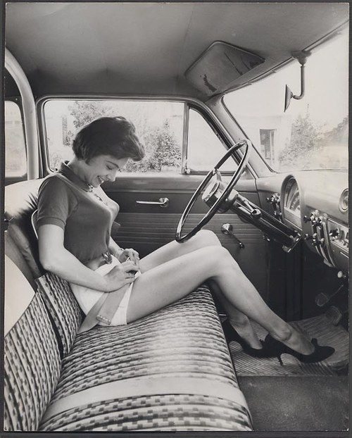Joyce Johnson. why don't they make cars this nice anymore? i'm glad they got away from pointy bras, though :P