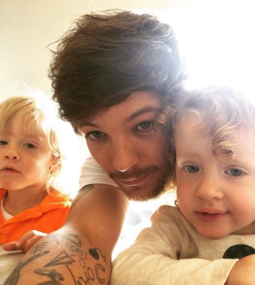 | ONE DIRECTION LOUIS TOMLINSON SHARES SELFIE WITH TWIN SIBLINGS…
