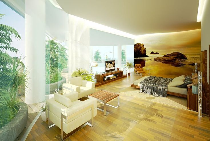 Awesome Nature View Wall Decals As Well As Bay Window As Well As White Curtain Plan Escorted By White Fur Rug As Well As Comfortable Bed Energizing Bedroom Ideas for Teenage Girls Interior Bedroom Bedroom Design Ideas For Small Room. Bedroom Ideas For Teenage Girls. Bedroom Design Ideas For Small Rooms.