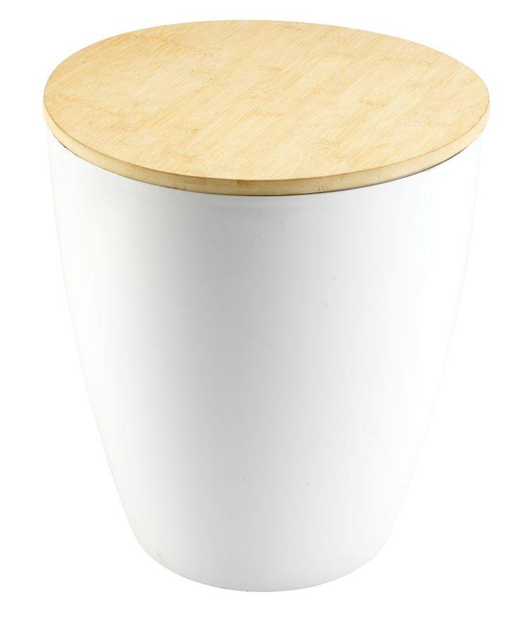 Kruk BRABRAND m/bergruimte wit/bamboe | JYSK