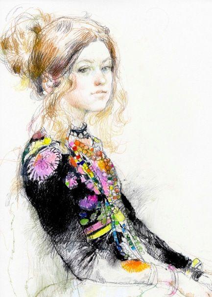 Victor Ambrus - Clare In Her Magic Coat