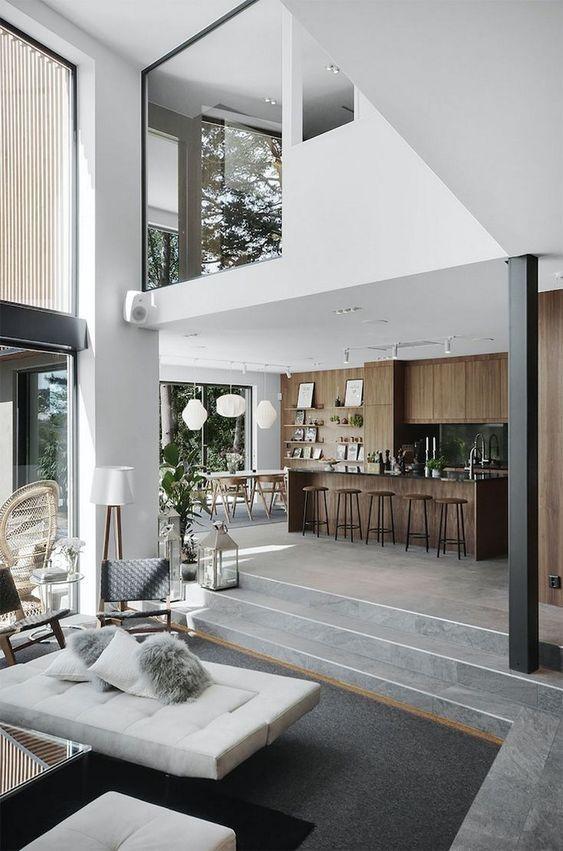 Casas modernas e baratas Confira inúmeras fotos e dicas 2020 Design de casa moderno Interior luxuoso Interiores de casas