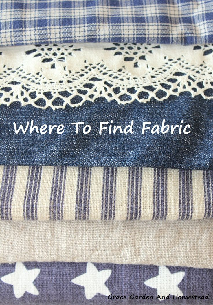 8 Great ideas on where to get affordable fabric for all your clothing and crafting needs!