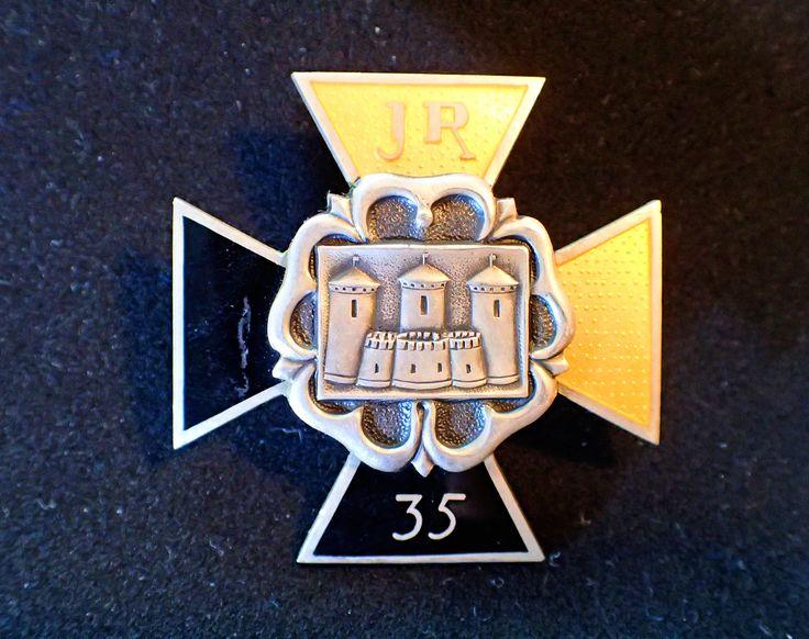 My grandpa's Regimental pin from Winter War, JR 35 that was at Kollaa, Carelia.