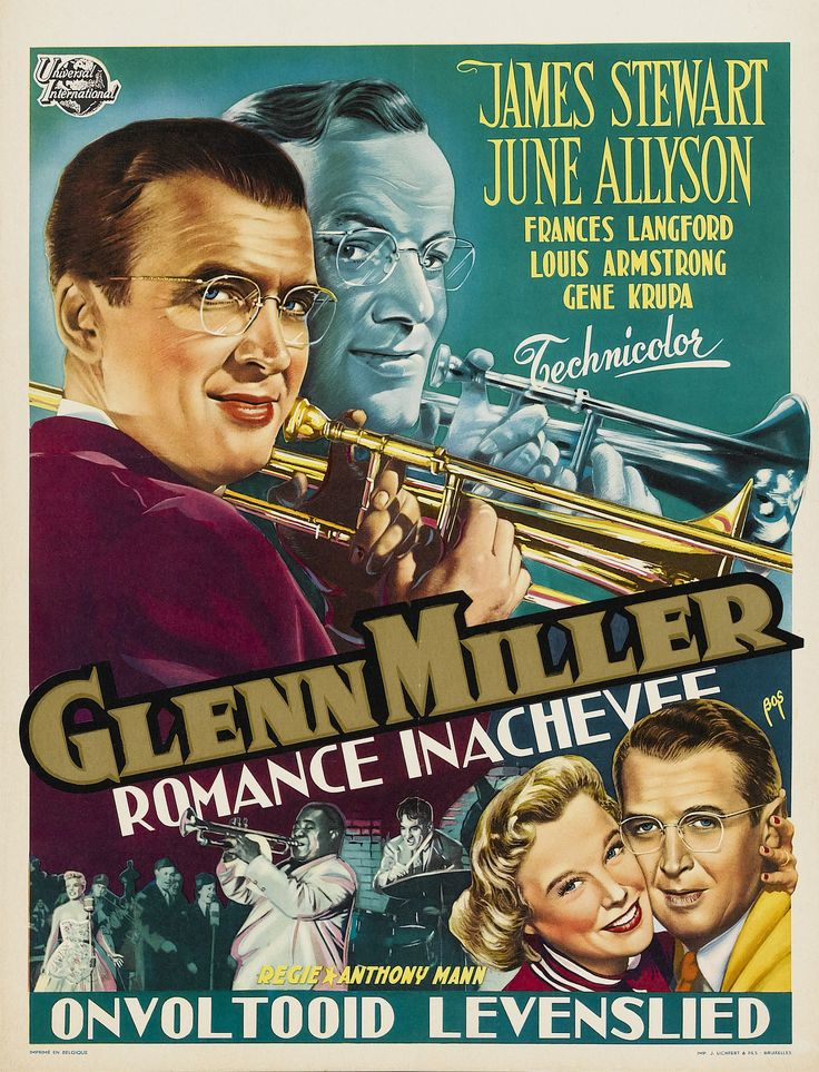 Risultati immagini per THE GLENN MILLER STORY ( 1953 ) GIF  POSTER