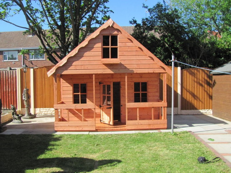 19 best images about house ideas peter pan wendy house for Wooden wendy house ideas