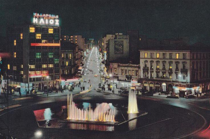 Omonia square at night