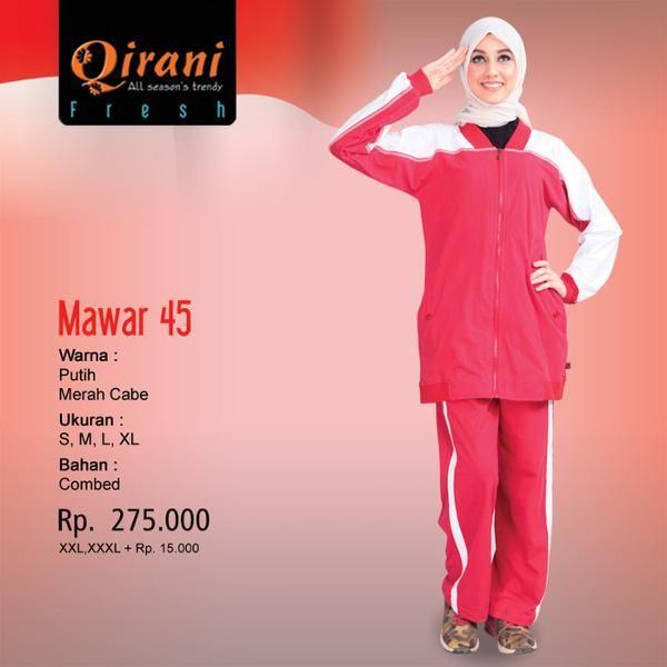 Beli Baju Olahraga Wanita Qirani Fresh Mawar - 45 Putih Merah dari Aprilia Wati agenbajumuslim - Sidoarjo hanya di Bukalapak