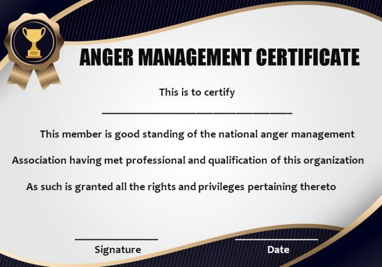 photograph regarding Printable Anger Management Certificate known as Pin upon Anger Command Certification Templates