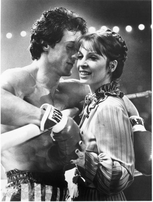 Growing up my mothers favorite series was Rocky. I watched the Italian Stalin and Adrian fall deeply in love.     Sylvester Stallone  Talia Shire in Rocky