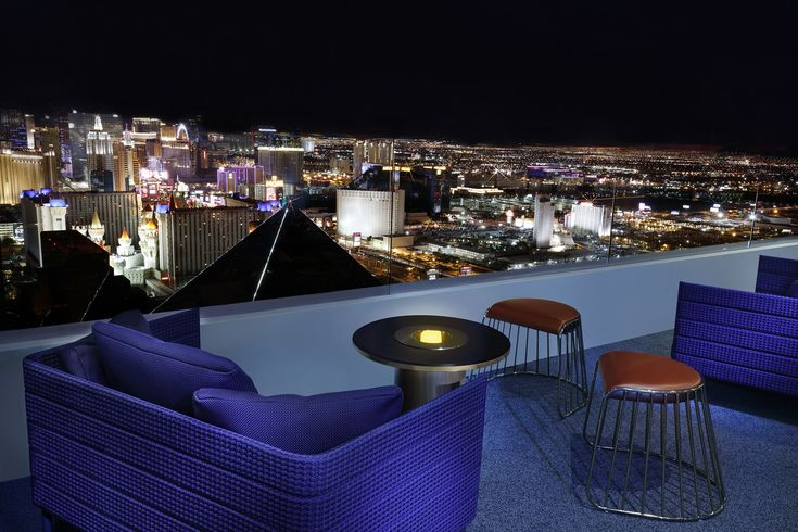 The new Skyfall Lounge on the 64th floor of the Delano in #Vegas has an evolving nightlife experience that changes from a casual lounge vibe to a more upbeat #nightclub experience as the night progresses. #Skyfall features interesting handcrafted cocktails and bottle service with unique mixer options. The lounge has 180-degree views of the valley and an outdoor patio overlooking the Strip.