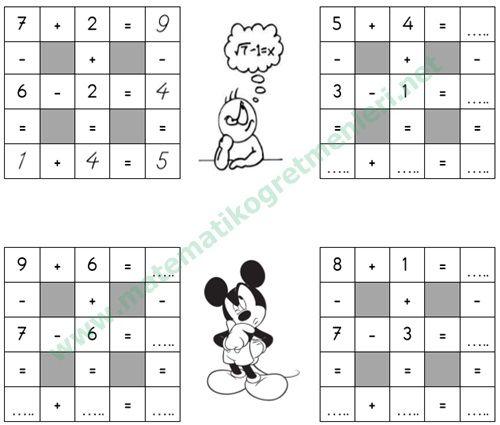 toplama ve çıkarma küpleri 1. Sınıf Matematik