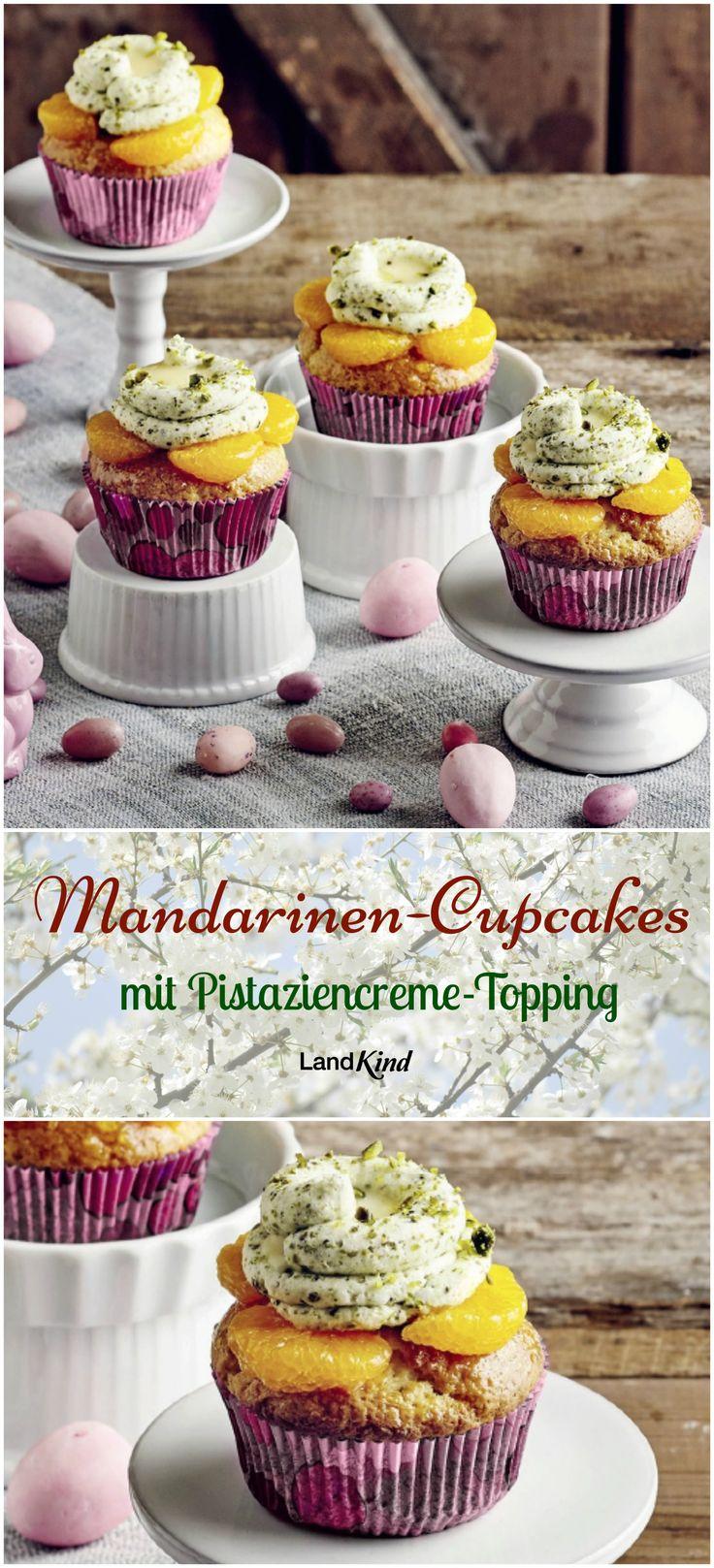 Frisch, fruchtig und mit locker-leckerer Creme - die süßen Cupcakes machen sich nicht nur auf der Kaffeetafel, sondern auch auf dem Osterfrühstückstisch gut.