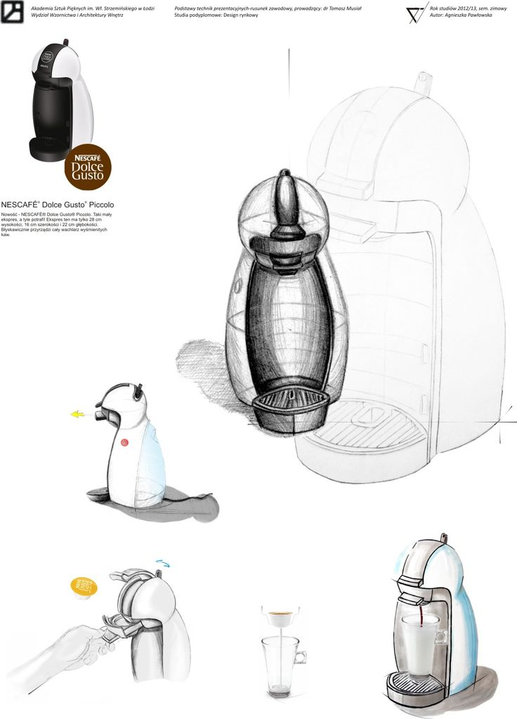 Concept sketch based on NESCAFÉ® Dolce Gusto
