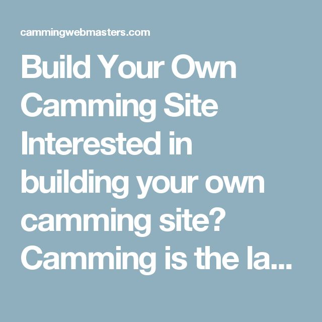Build Your Own Camming Site  Interested in building your own camming site? Camming is the largest and most profitable segments of the adult industry vertical.Now you can get started with your very own camming site. Best of all, you don't have to code it all yourself! There's tons of tech partners out there that makes it very easy to deploy your own adult webcam site. See what is available and get started running your own camming site now!    Camming Scripts / CMS / Streaming Tech Providers…