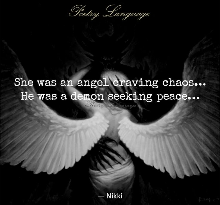 She was an angel craving chaos..He was a demon seeking peace..