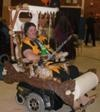 Homemade Fred Flintstone and Flintmobile Wheelchair Costume ... for dad!!!